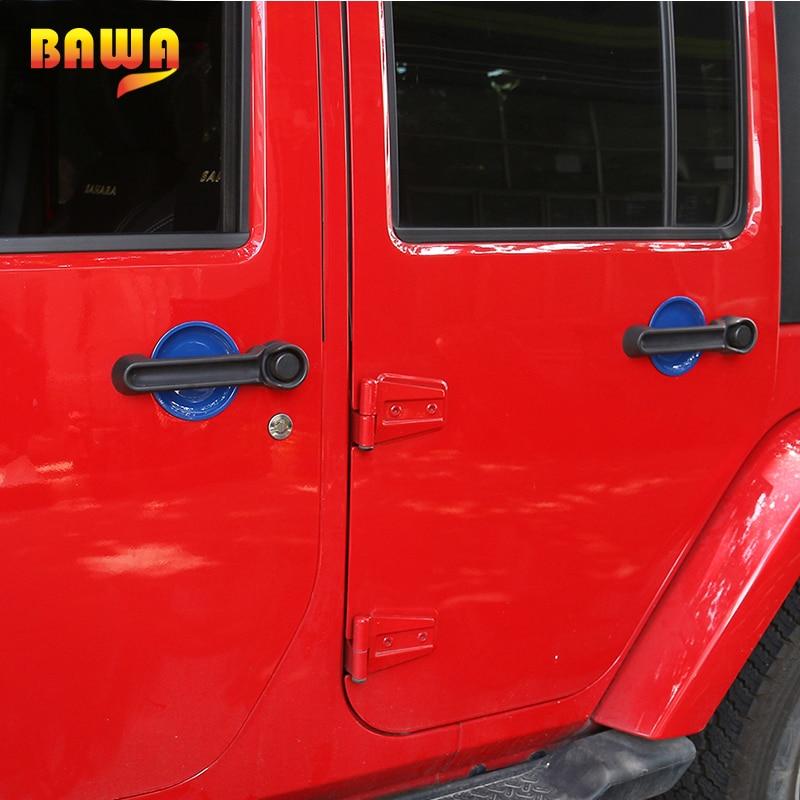 3x Exterior Door Grab Handle Insert Cover For 2007-2018 Jeep Wrangler JK 2-Door