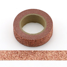 1pcs Adhesive brick red Glitter Washi Tape Scrapbooking Christmas Party Kawaii Cute Decorative Paper Crafts Hot Sale new arrival adhesive silver golden glitter washi tape scrapbooking christmas party kawaii cute decorative paper crafts hot sale