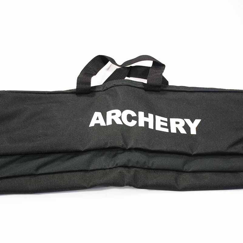 Bow Quiver Bag in Black Easy Carrying Bow 72x17cm by Canvas for Recurve Bow Archery Hunting Shooting