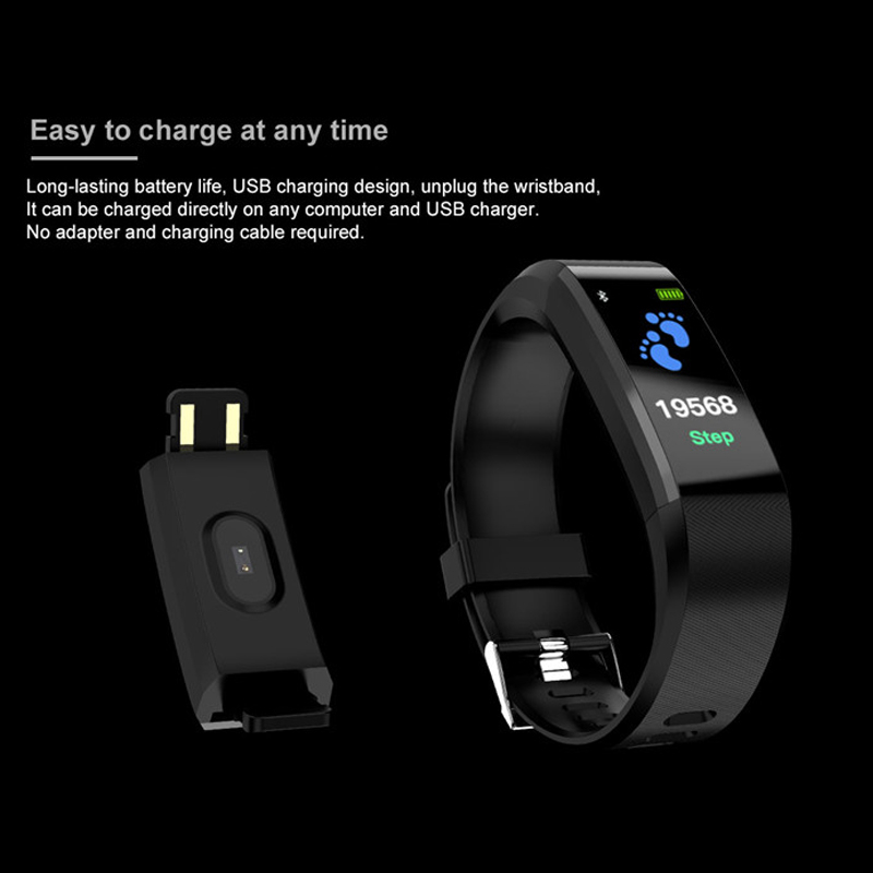 Image 4 - New sports smart bracelet waterproof sphygmomanometer smart bracelet fitness tracker smart pedometer smart bracelet PK my band-in Smart Wristbands from Consumer Electronics