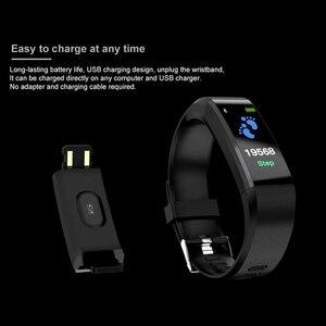 Image 4 - New thể thao vòng đeo tay thông minh không thấm nước máy đo huyết áp vòng đeo tay thông minh tập thể dục tracker pedometer thông minh vòng đeo tay thông minh PK của tôi ban nhạc