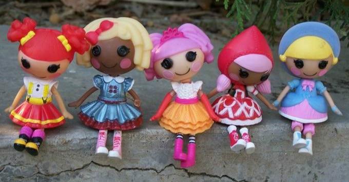 8cm tall 3 Lalaloopsy Mini Dolls new year gift, mini doll 8 pcs / lot set different dolls,Christmas gift for little girl