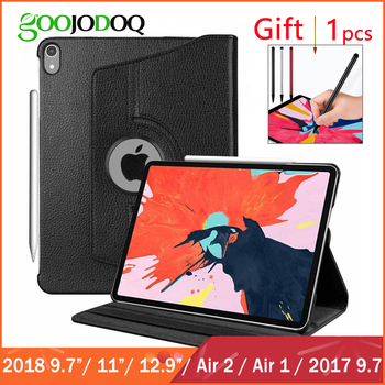 For iPad Air 2 1 Case for Apple iPad 2018 9.7 / Pro 11 12.9 2018 Funda 360 Degree Rotating PU Leather Cover for iPad Case Coque