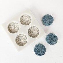 Minsunbak новейший арабский текст силиконовая форма DIY помадка украшения торта инструменты форма для шоколадной мастики