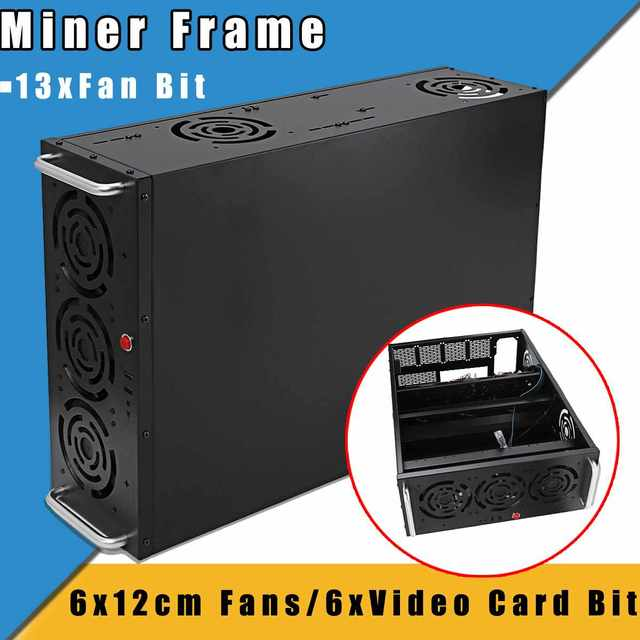Air Miner Frame Crypto Coin Open Mining Rig Case Fan For GPU ETH/ETC/ZEC/XMR