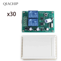 QIACHIP 433Mhz DC 12V Universal Wireless Remote Switch Switch 2CH RF Relay Receiver Smart Home Automation Module For Garage Gate