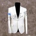 S-5XL 2017 Nueva ropa de hombre delgado de la manera de Michael Jackson dangerous traje traje trajes del cantante etapa más tamaño vestido formal