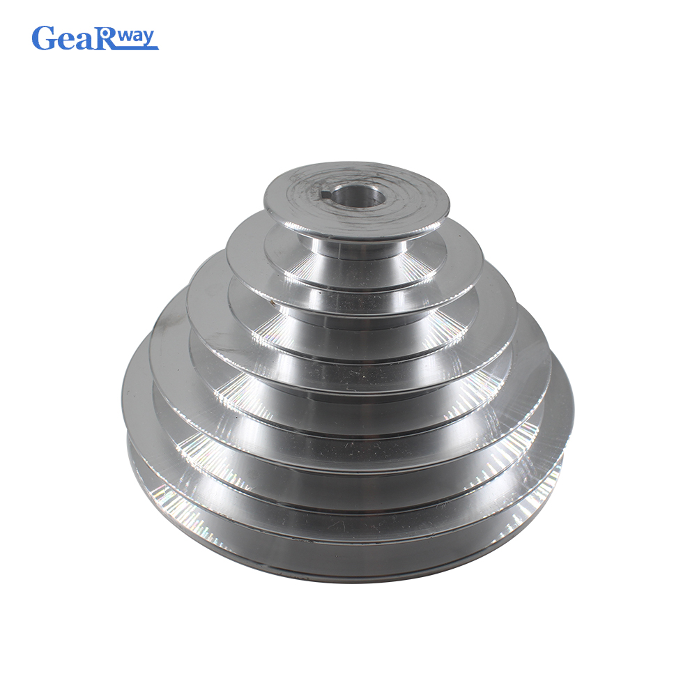 5 Steps A Type V Belt Pagoda Pulley 150mm Outside Diameter Aluminum Pulley 14/16/18/19/20/22/24/25/28mm Bore V-Belt Pulley
