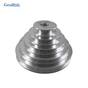 Image 1 - 5 schritte EIN Typ V Gürtel Pagode Pulley 150mm Außerhalb Durchmesser Aluminium Pulley 14/16/18/ 19/20/22/24/25/28mm Bohrung V Gürtel Pulley