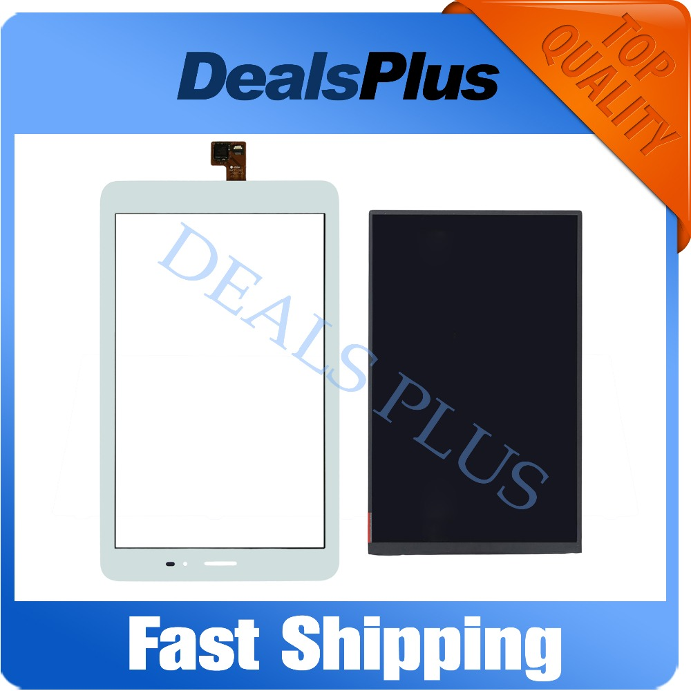 Replacement New LCD Display Screen or Touch Screen Digitizer Glass For Huawei T1-821L T1-821W T1-823L Black White srjtek 8 inch lcd for huawei tablet t1 821l lcd display digitizer sensor replacement lcd screen 100% tested