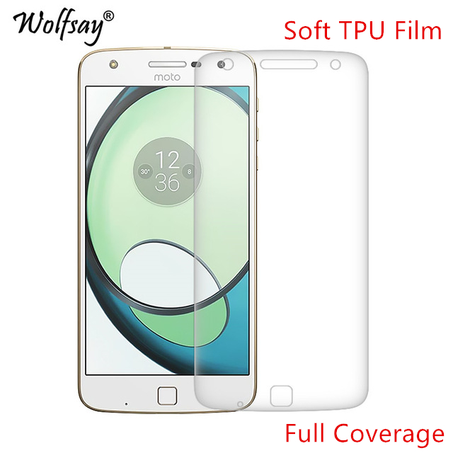 Wolfsay Screen Protector For Moto Z Play Nano Clear Soft TPU Film (Not Tempered Glass) for Motorola Moto Z Play XT1635 Full Film