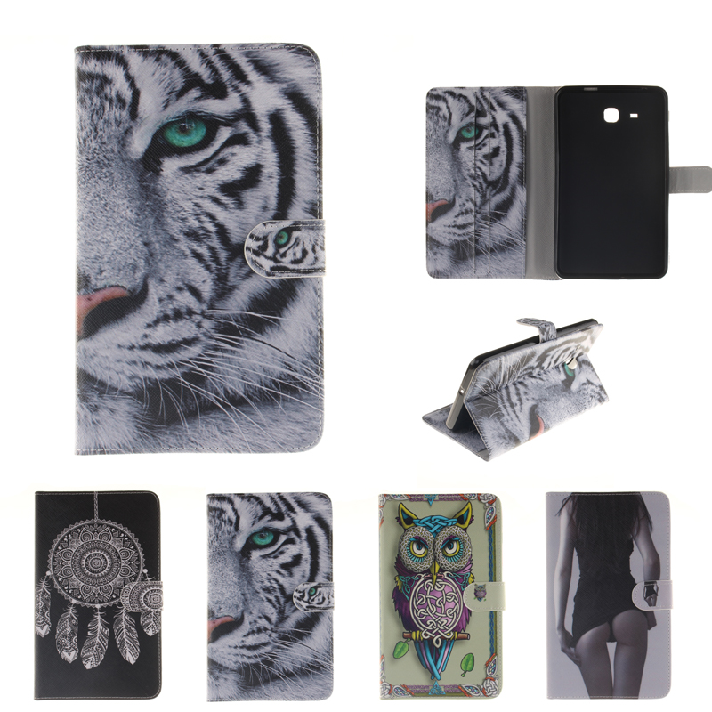 Painted Flip Case for coque Samsung Galaxy Tab A 7.0 T280 T285 SM-T280 SM-T285 Case for Samsung T280 T285 Smart Case Cover