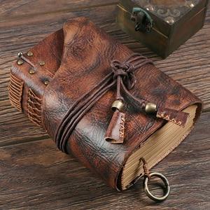 Image 5 - 100% echtem Leder Handgemachte A4 A5 A6 Vintage Retro Reise Journal Tagebuch Notebook Notizblock Geburtstag Valentinstag Geschenk BJB26