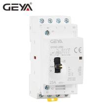 Free Shipping GEYA GYHC 4P 16A 20A 25A 2NO2NC 220V/230V 50/60HZ Din rail Household AC Modular Contactor стоимость