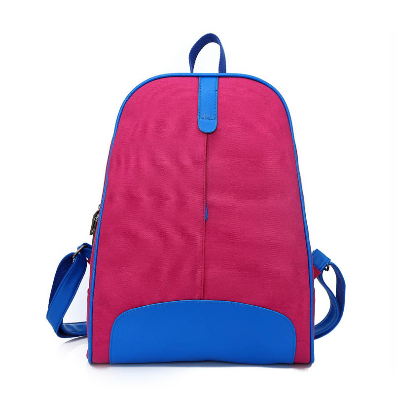 Korean Version New 4 Colors Canvas Shoulder Bag Ladies Backpacks Women Candy Backpack Pretty Canvas Backpacks Female Fashion Bag oxford bag korean version of the female students shoulder bag large capacity backpack canvas backpacks