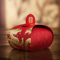 50pcs Gold Foil Chinese Dragon Baby Shower Candy Box Wedding Decoration Wedding Gifts For Guests Favors
