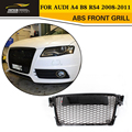 A4 RS4 Car-Styling ABS Black Painted Frame Grille Auto Grill for Audi A4 B8 RS4 2008-2011
