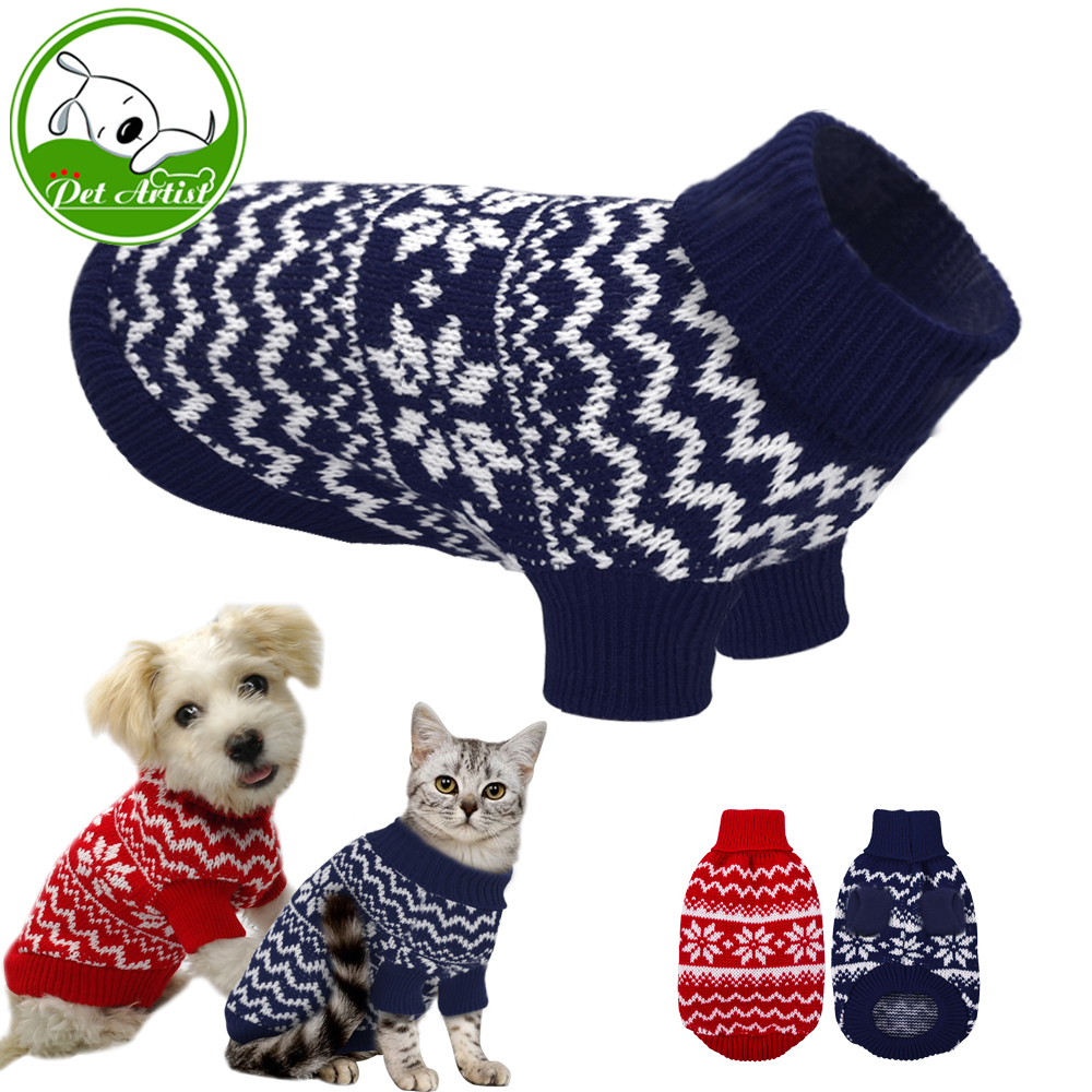 Weiche Welpen Hund Kleidung Warme Winter Haustier Katze Pullover