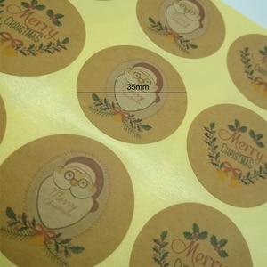 Image 5 - 1200 pcs/lot Kawaii père noël rond bricolage multifonction joint autocollant joyeux noël cadeau autocollant étiquette
