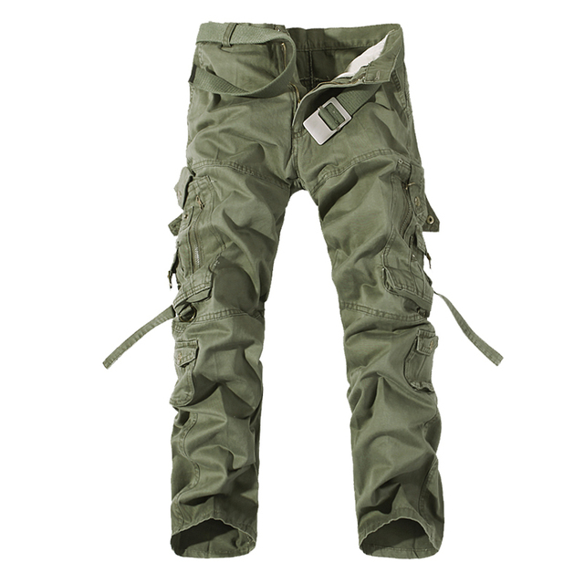 New mens casual military pants army cargo camo combat work trousers free shipping 6 Color 28-40