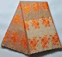 African Lace Fabric 2017 Embroidered Nigerian Laces Fabric High Quality French Tulle Lace Fabric For Women