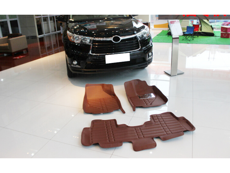 NEW! Car Inner Floor Mats Foot Mat Pads Cover 5 Seat For Toyota Highlander 2015 inner floor mats