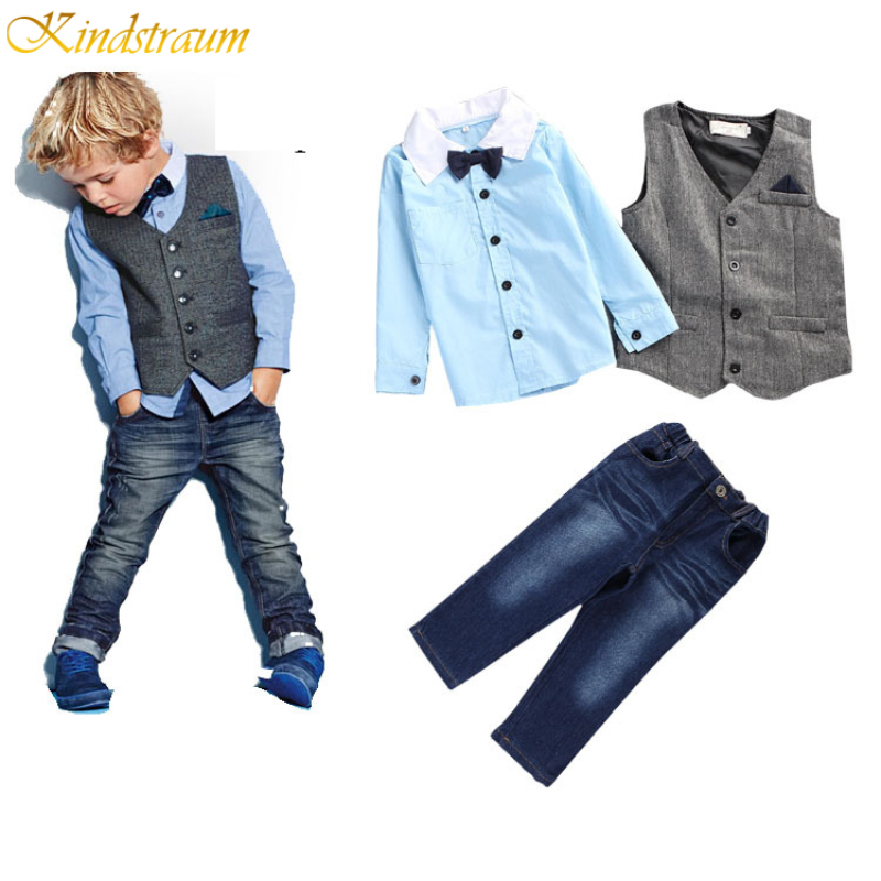 Kindstraum School Trend Boys Formal Clothing Suits Shirt + Vest + Pants + Tie 4 Pcs/Set Children Sets Party & Wedding Wear,MC152 kindstraum school trend boys formal clothing suits shirt vest pants tie 4 pcs set children sets party