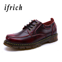 Men Derbi Leather Shoes Brown Wine Red Working Shoes Male Comfortable Flats Men Footwear Rubber Sole Non Slip Walking Mens Shoes