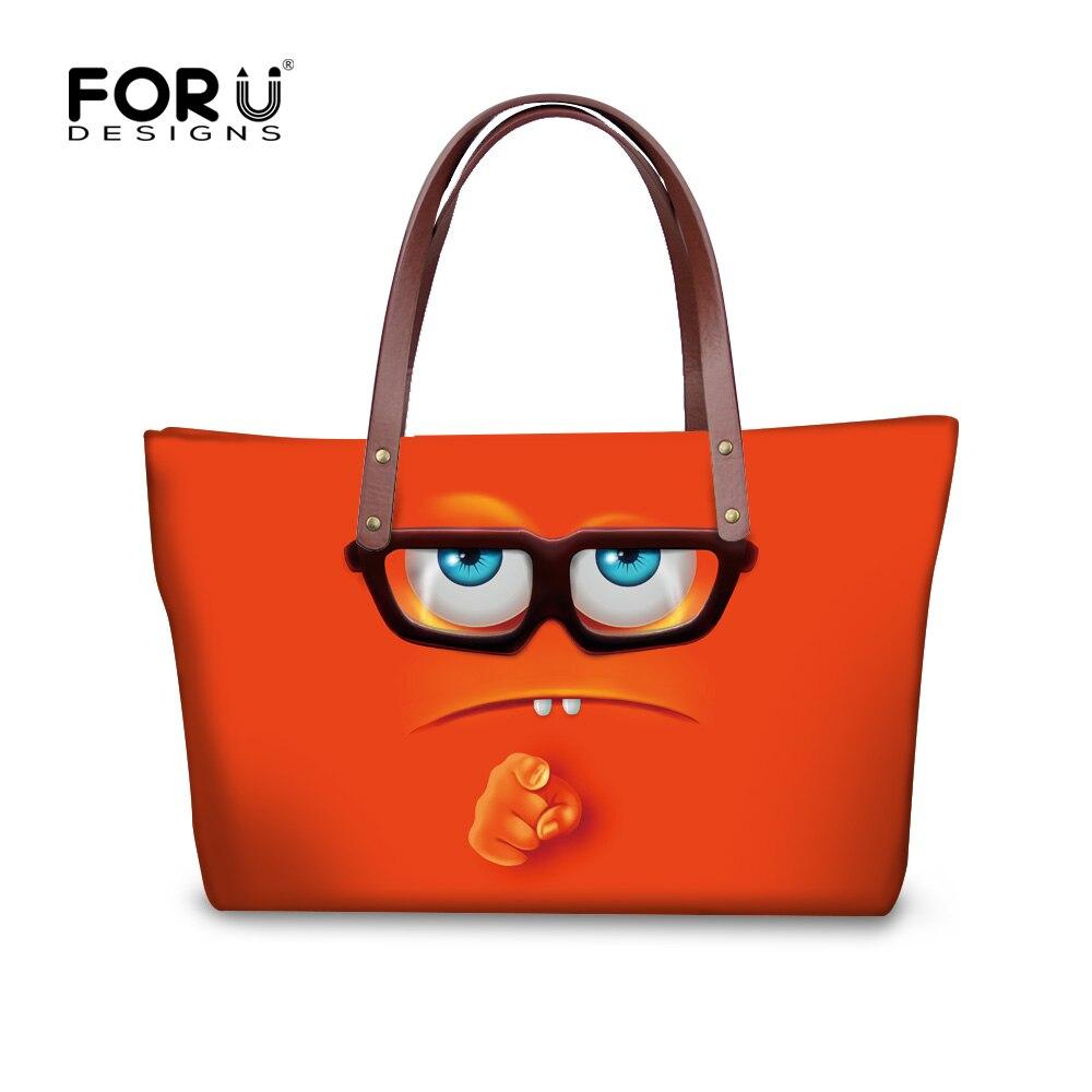ФОТО High quality smiley handbags for women funny eomji designer ladies messenge bags large casual travel bag tote bolsa feminina