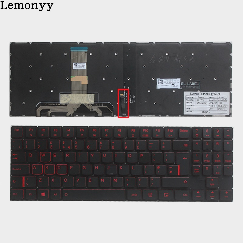 New UK keyboard for Lenovo Legion Y520 Y520-15IKB R720 Y720 Y720-15IKB UK laptop Keyboard Backlit No Frame SN20M27447 PC5YB-UKNew UK keyboard for Lenovo Legion Y520 Y520-15IKB R720 Y720 Y720-15IKB UK laptop Keyboard Backlit No Frame SN20M27447 PC5YB-UK