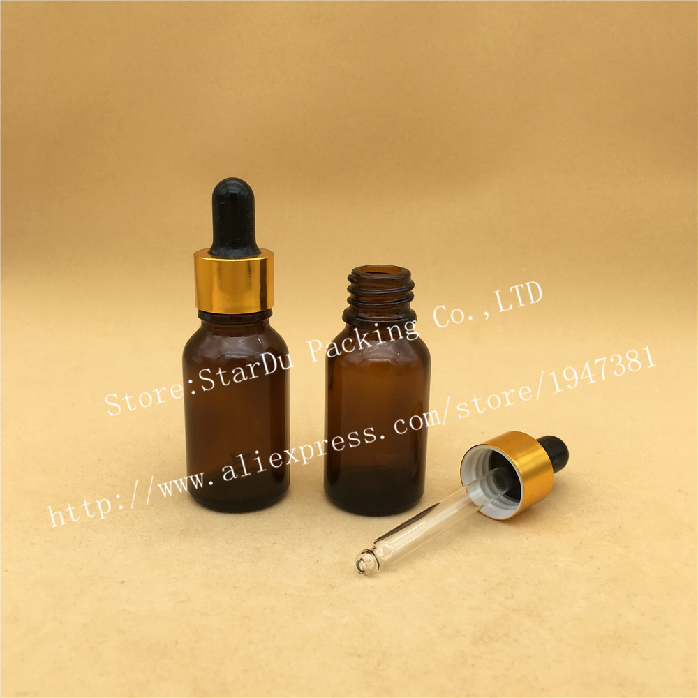 Free shipping 1000pcs 15ml Amber Glass Dropper Bottle,15cc Empty Bown Glass Essential Oil Bottle With Dropper 2x30ml skull shape glass dropper bottle e juice head glass eliquid dropper bottle glass dropper bottle jars vials with pipette
