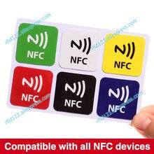 6 unids/lote NTAG213, etiquetas NFC RFID etiqueta adhesiva pegatina, compatible con todos los productos nfc