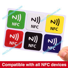 6pcs/lot NTAG213,NFC tags RFID adhesive label sticker,compatible with all nfc products