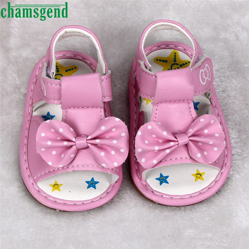 CHAMSGEND Best Seller Summer Style Cute Beauty Kid Toddler New Bowknot Girls Printed Soft-Soled Baby Shoes S35