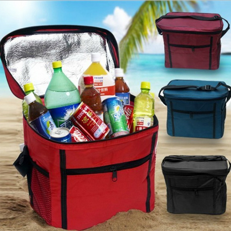 27x17x24cm Cooler Cool Bag Box Picnic Camping Food Drink Festival Shopping  Ice Storage Box Organization(