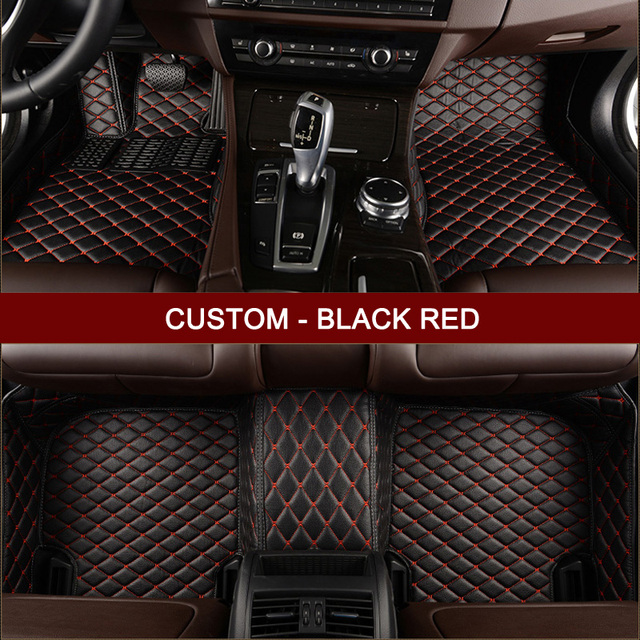 Custom car floor mats for Jaguar All Models XF XK XE XJ F-PACE F-TYPE car  accessories styling leather Anti-slip carpet liners