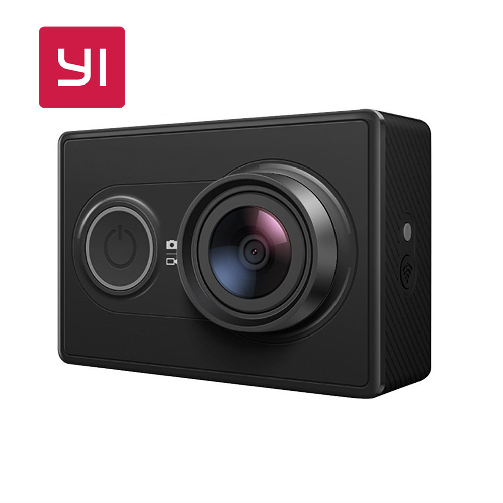 [New International Edition] Yi Action Z23L EU Version Sports Camera WiFi BT4.0 16MP 1080p HD 155 Degree Wide Lens [hk stock][official international version] xiaoyi yi 3 axis handheld gimbal stabilizer yi 4k action camera kit ambarella a9se75 sony imx377 12mp 155‎ degree 1400mah eis ldc sport camera black