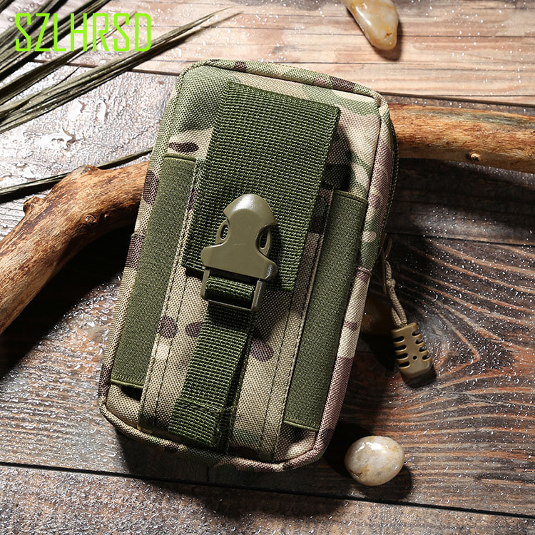 For Elephone A2 Pro Outdoor Bag MOLLE Army Camouflage Bag Hook Loop Belt Cover Elephone A4 P11 Soldier P12 S8 Pro U S7 Mini C1