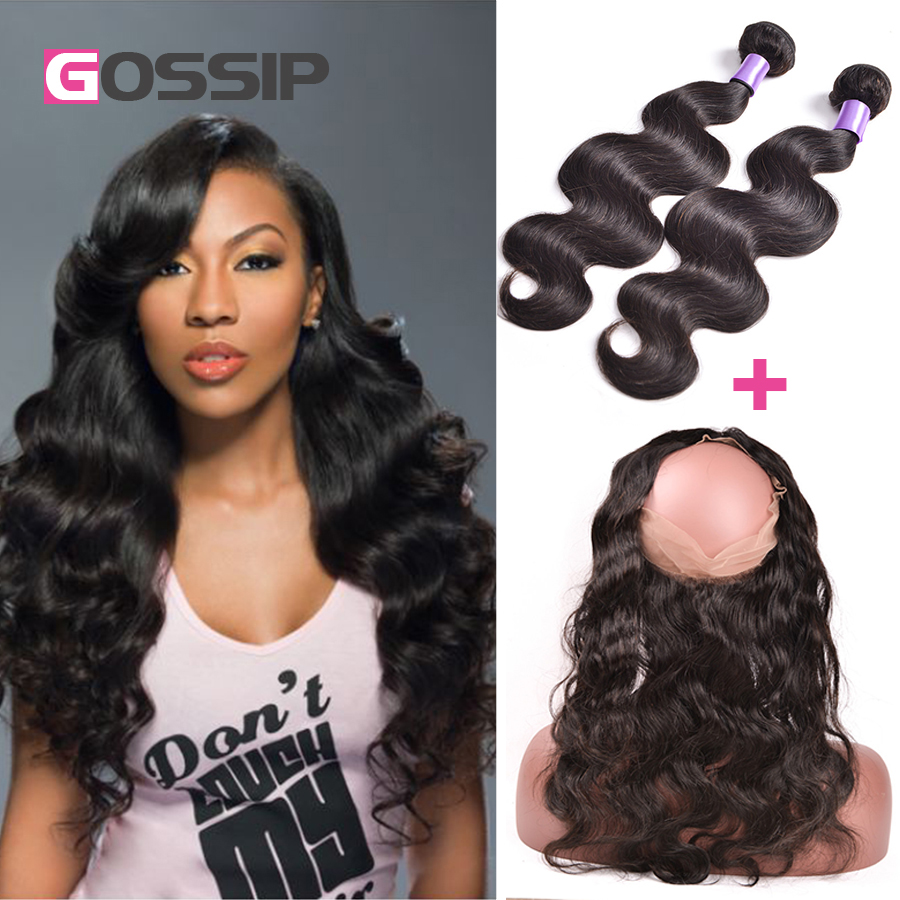 Peruvian Body Wave With Closure 360 Lace Frontal With Bundle 360 Lace Virgin Hair Body Wave