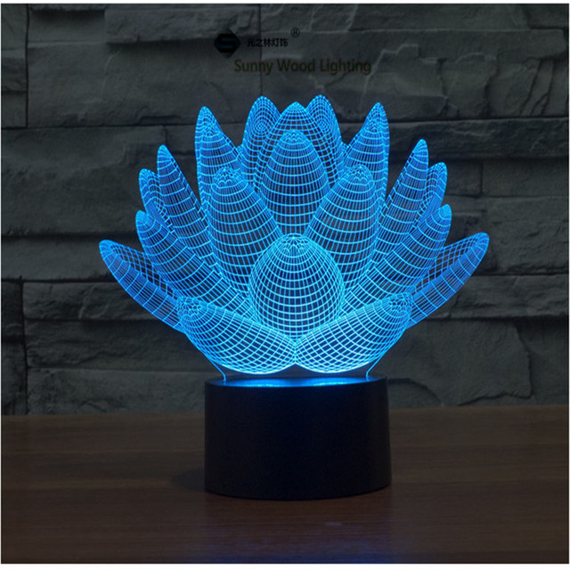 Lotus flower touch switch led 3d lamp visual illusion 7color lotus flower touch switch led 3d lamp visual illusion 7color changing 5v usb for laptop mightylinksfo