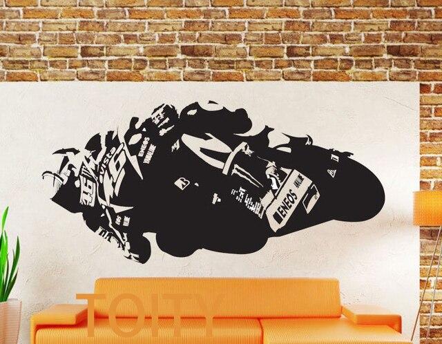 valentino rossi vinyl decal yamaha m1 wall sticker sport motogp
