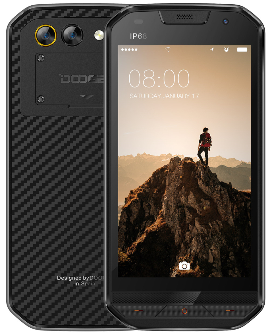 original DOOGEE S30 IP68 Rugged Waterproof Phone Dual Cameras Mobile Phone 5580mAh 5.0