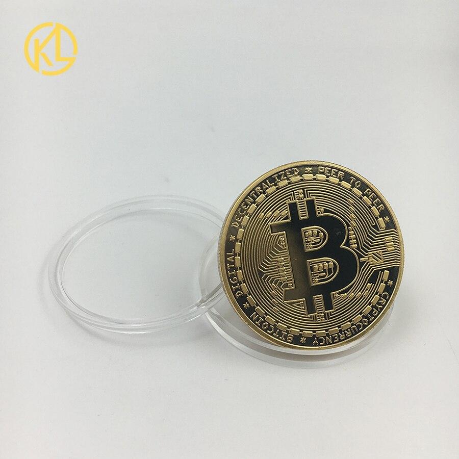 CO012 позолоченный эфириум классическая монета памятная монета художественная коллекция подарок физическая имитация из металла вечерние украшения для дома - Цвет: CO-019-1