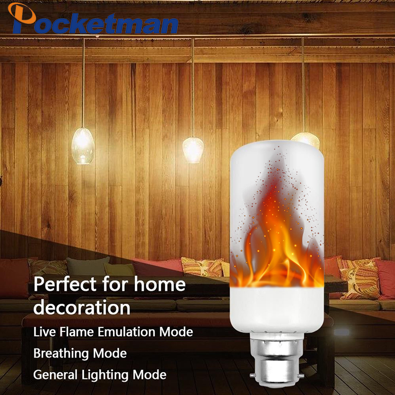 E27 E14 B22 LED Flame Effect Fire Light Bulbs 2835 Creative Lights Flickering Emulation Vintage Atmosphere Decorative Lamp ...