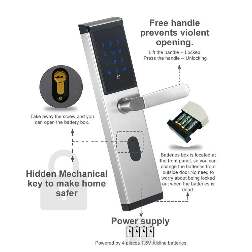 Электронный цифровой замок, без ключа цифровой замок сейфа дверь смарт-карта клавиатура пароль Pin код дверной замок для умного дома