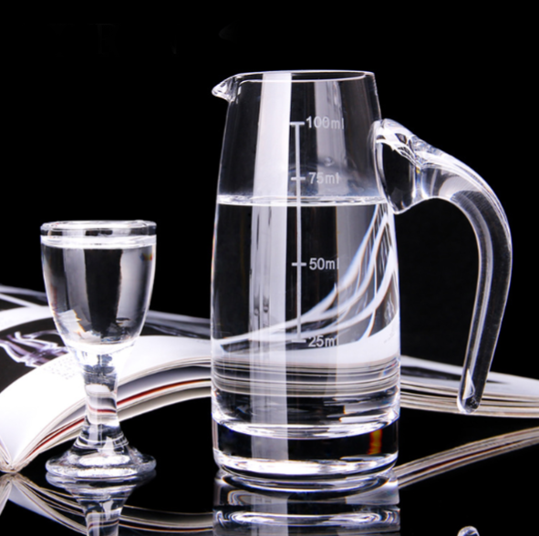 Various sizes White Wine Glass Pitcher with Scale Red Graduated Cylinder Cup Wine Bar Wine Beer Drinkware Gift Tea Cup Utensil