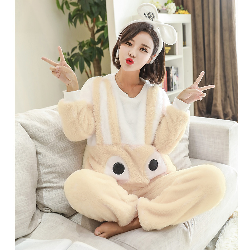 Adult Girls Rilakkuma Pajamas Suit In Summer Tracksuit Pyjamas T Shirt 3d Animal Face Ladies Cartoon Emoji Sleepwear For Women Women's Sleepwears Underwear & Sleepwears