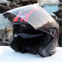 2017 Winter New Germany Tanked Racing 3 4 Flip Up Motorcycle Helmet Double Lens Motorbike Helmets