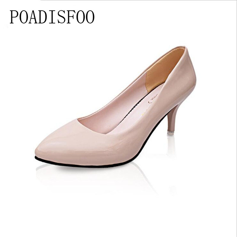 POADISFOO Women pumps OL shoes for summer Spring, 2017 New Women's Classic Pumps Shoes for Woman.LSS-025