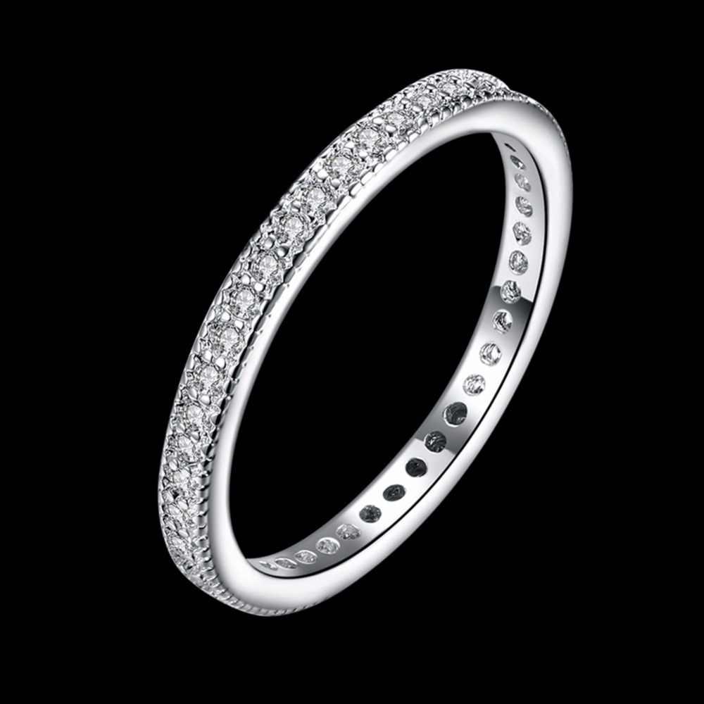 925 посеребренный стекируемые кольцо 1 Серебрянное ожерелье с подвеской сочетающийся ремешок женские перстни из розового золота Цвет кончик пальца тонкие кольцо среднего размера